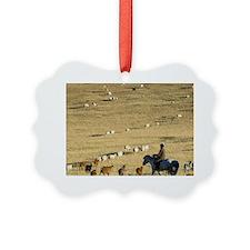 Nomads herding cattle Ornament