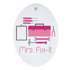 Mrs. Fix -it Ornament (Oval)