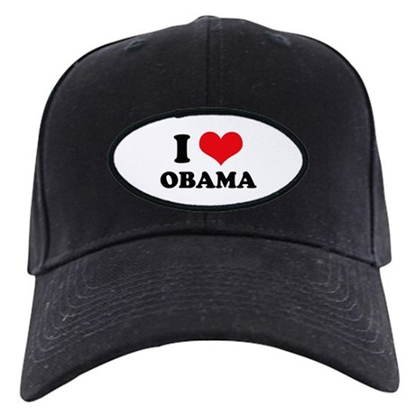I Love (Heart) Obama Black Cap