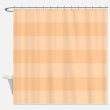 Funny Peach stripes Shower Curtain
