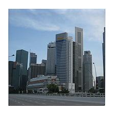 Singapore Central Business District Tile Coaster