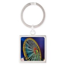 The Ferris Wheel Square Keychain