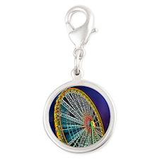 The Ferris Wheel Silver Round Charm