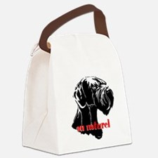 giant or schnauzer wag your tail Canvas Lunch Bag