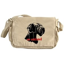 giant or schnauzer wag your tail Messenger Bag