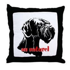 giant or schnauzer wag your tail Throw Pillow