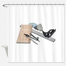CompassRulerDoorKnobTools021411.png Shower Curtain