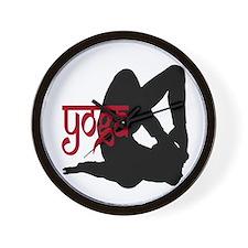 Yoga Locust Pose Wall Clock