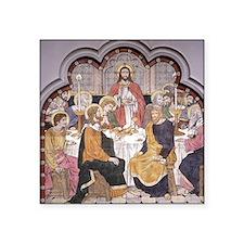 """The Last Supper, 19th cen t Square Sticker 3"""" x 3"""""""