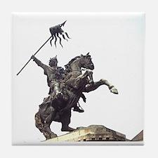 William the Conqueror statue at Falai Tile Coaster