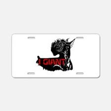 giant or schnauzer wag your Aluminum License Plate