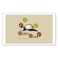 """Ferret Lover"" Rectangle Decal"