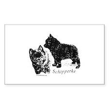 Schipperke puppy Sticker (Rect.)