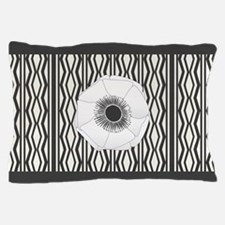 Chic White Anemone Pillow Case