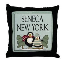 Seneca New York Throw Pillow