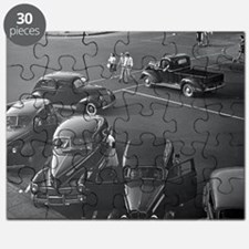 Cars Downtown, 1942 Puzzle