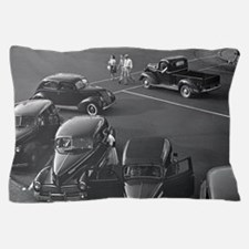 Cars Downtown, 1942 Pillow Case