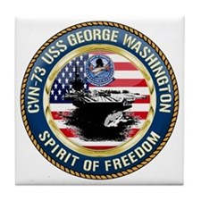 CVN-73 USS George Washington Tile Coaster