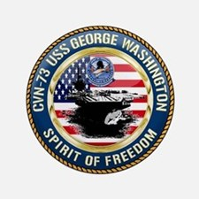 "CVN-73 USS George Washington 3.5"" Button"