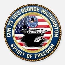 CVN-73 USS George Washington Round Car Magnet