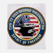 CVN-73 USS George Washington Throw Blanket