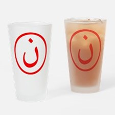 Nun Drinking Glass