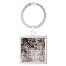 Fall of Man by William Blake. Square Keychain