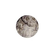 Fall of Man by William Blake. Mini Button