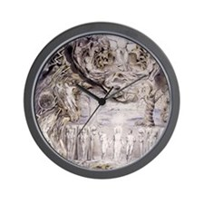 Fall of Man by William Blake. Wall Clock