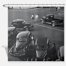 Funny Vintage cars Shower Curtain