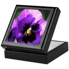 Purple Pansy Keepsake Box