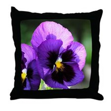 Purple Pansy Throw Pillow
