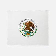 Cute Mexico flag Throw Blanket