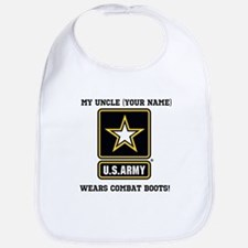 My Uncle Wears Combat Boots Army (Custom) Bib