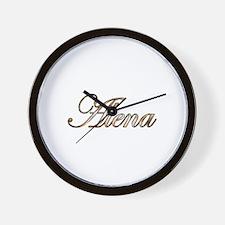 Gold Alena Wall Clock