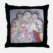 Christ carrying cross to Calvary. 19t Throw Pillow
