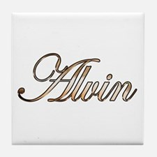 Gold Alvin Tile Coaster