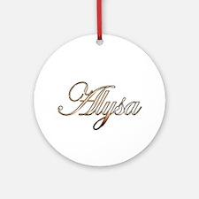 Gold Alysa Round Ornament