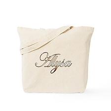 Gold Alysa Tote Bag