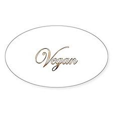Gold Vegan Decal