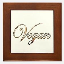Gold Vegan Framed Tile