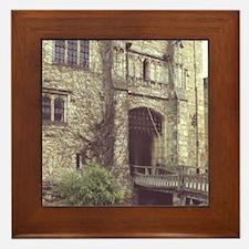 Hever Castle. Entrance drawbridge. 13t Framed Tile