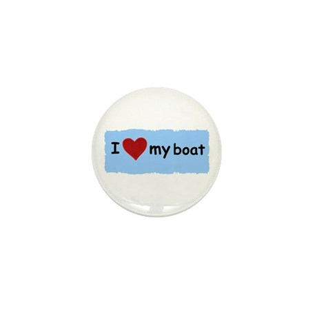 I LOVE MY BOAT Mini Button (10 pack)