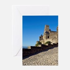 Cite, old walled city, Carcassonne,  Greeting Card