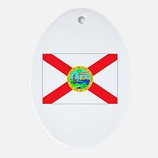 Florida flag Oval Ornament