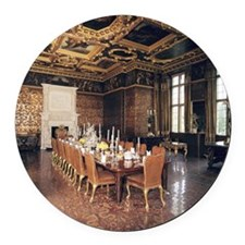 Longleat House. State dining room Round Car Magnet