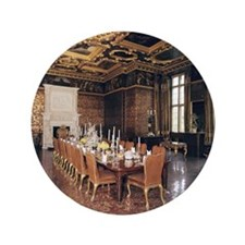 """Longleat House. State dining room. Eng 3.5"""" Button"""