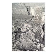 Normans battle at castle, Postcards (Package of 8)