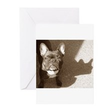Cute French bulldogs Greeting Cards (Pk of 20)
