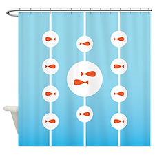 Goldfish in Fishbowls Shower Curtain